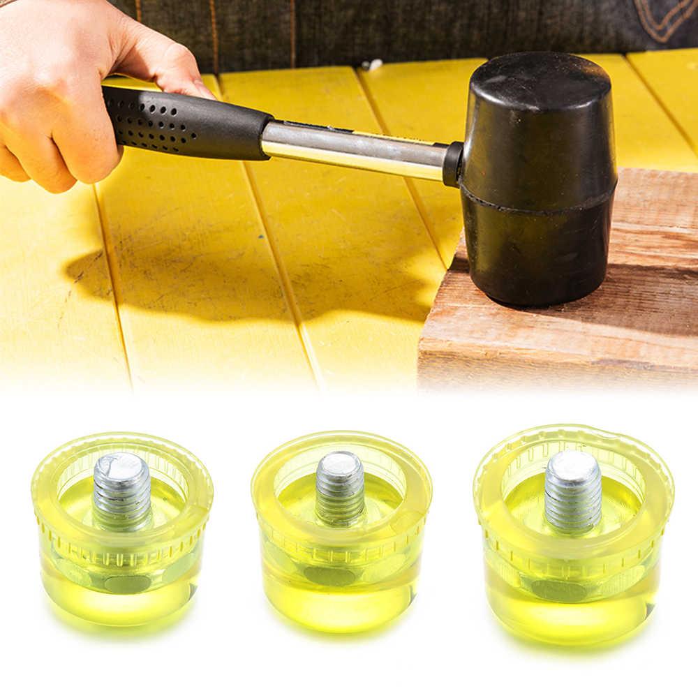 1 adet 25/30/35mm profesyonel pratik kauçuk çekiç kafa çift yüzlü çalışma cam pencere boncuk naylon kafa çekiç onarım aracı