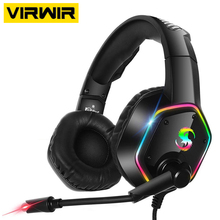USB 7.1 HIFI Wired Gamer Headphones Sound Stereo 3.5mm Plug Earphones With Mic Colourful Light For PS4 PC Laptop Gaming Headsets