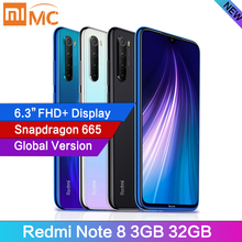 "Global Versie Xiaomi Redmi Note 8 48MP 4 Camera S 3 Gb Ram 32 Gb Smartphone Snapdragon 665 Octa Core 6.3 ""Fhd Screen Mobiele Telefoon"