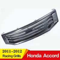Front Car Grill Car grille for HONDA ACCORD carbon fiber Racing Grills grille 2011 2012