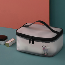 Portable Travel Makeup Cosmetic Organizer Bag Waterproof Large Capacity Toiletry Box Toothbrush Storage Bathroom Accessories large capacity multilayer hook wash bag travel multifunction storage bag polyester accessories cosmetic makeup storage organizer