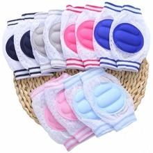 1pair Knee Pad Kids Crawling Elbow Cushion Solid Infant Socks Toddlers Baby Leg Warmer Knee Support Protector Kneecap Kneepad цены