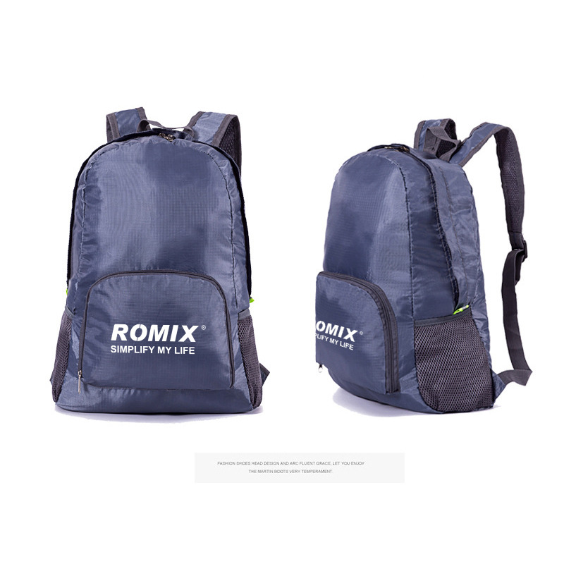 ROMIX Backpack Ultra-Light Foldable Outdoor Backpack Men And Women Casual Travel School Bag Portable Waterproof