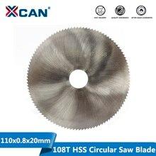 XCAN hoja de sierra Circular de acero 110x0,8x20mm 108T HSS, disco de corte de Metal y madera, hoja de sierra de uso General, 1 ud.