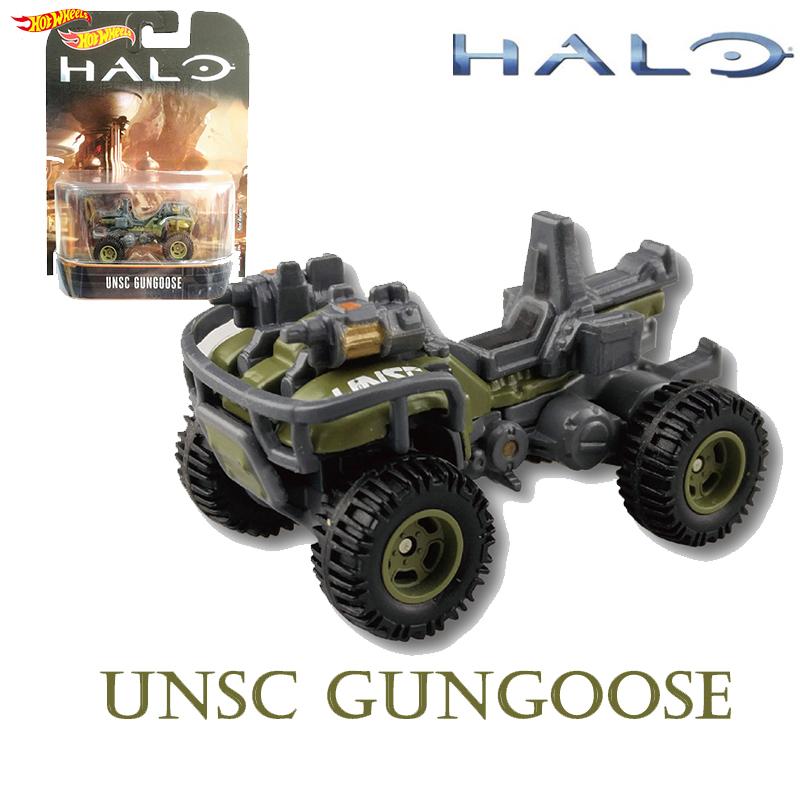 Original Hot Wheels Halo War Game Classic Chariots Model GUN GOOSE Collection Toys Boy Birthday Gift DMC55