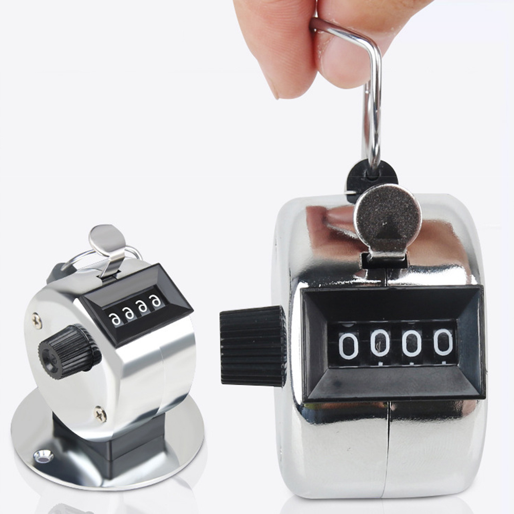 4 Digit Number Mini Portable Manual Press Tally Counter with Mechanical Button Display Electronic Tally Counter