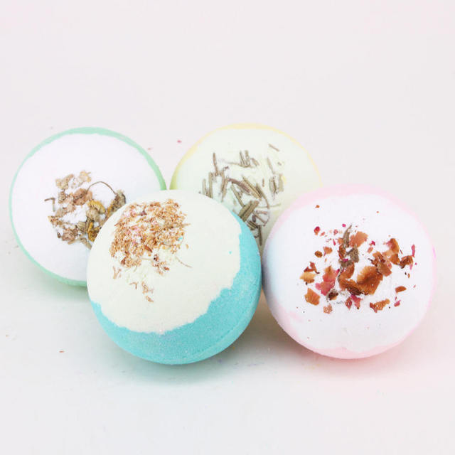 Bath Salt Bath Salts Bombs Bubble Salts Ball Oil Sea Salt Handmade SPA Stress with 4 Colors Bath & Shower Accessories 1