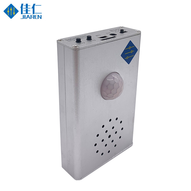 Wall Ceiling Mount Infrared Motion Sensor Detector Voice Reminder Device With USB With Sound Recordable For Voice Reminder
