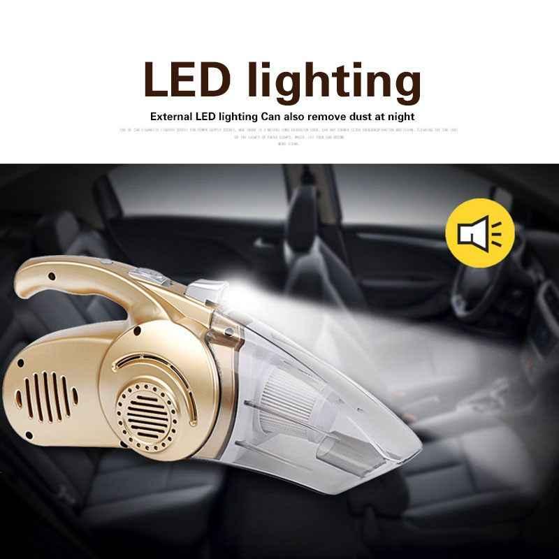 مكنسة كهربائية متعددة الوظائف بقدرة 12 فولت 120 واط للسيارة والمنزل مكنسة كهربائية 4 في 1 قدرة عالية الرطب والجاف 14.76 قدم (4.5 متر) سلك طاقة