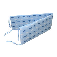 Hot Baby Bed Crib Bumper U-Shaped Detachable Zipper Cotton Newborn Bumpers Infant Safe Fence Line Cot Protector Unisex