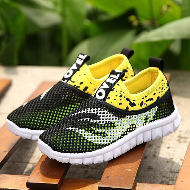 Summer 2020 Children's Sports Net Shoes Spring Boys And Girls Openwork Net Shoes Fashion Mesh Breathable Casual Shoes Rubber New