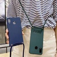 Crossbody Lanyard Seil Fundas Für Xiaomi Redmi 8A 8 7A 7 6A 6 Pro 5 Plus 4A Hinweis 5A Prime 4X Fall Halskette Cord Strap TPU Abdeckung