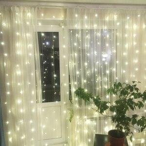 Image 4 - 2x 2/3x 2/6 × 3メートルカーテンledつららストリングライトクリスマス妖精led花輪屋外ライトホーム結婚式のパーティーの庭の装飾