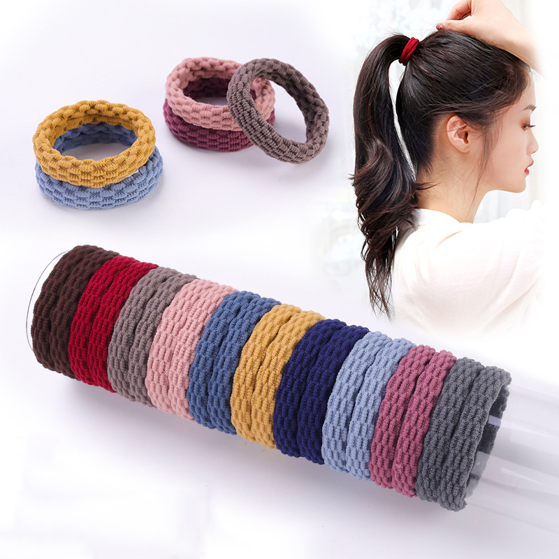 10PCS Women Girls Simple Basic Elastic Hair Bands Ties Scrunchie Ponytail Holder Rubber Bands Fashion Headband Hair Accessories