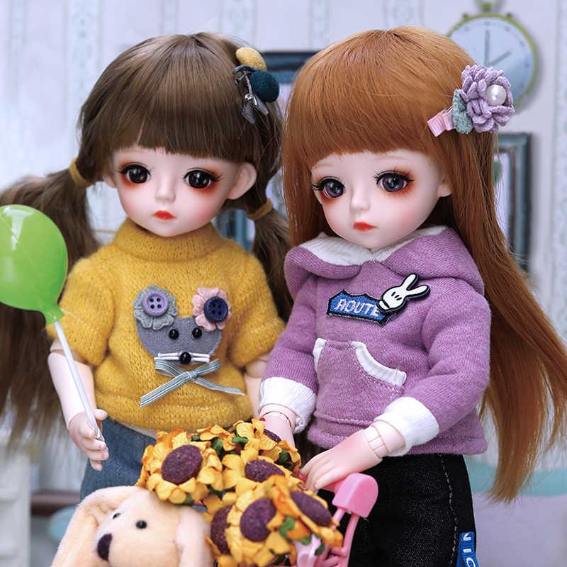 Muñeca Bjd 30CM, regalos para niñas, 18 articulaciones, muñecas DIY con ropa, los mejores regalos para niñas, juguete de belleza hecho a mano, BJD 1/6