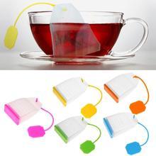 Цветное Силиконовое сито для заварки чая в виде листьев сито для специй в пакетиках фильтр для чайных чашек рассеиватель чайный аксессуар посуда для напитков 174 мм* 43 мм* 19 мм