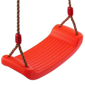 Kids Swing Outdoor Rope Hanging Bending Board Swing Chair Children Plastic Amusement Indoor Equipment park swing garden swing amusement park equipment