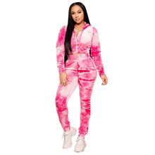 Floral Print Bodycon Two Piece Set Tracksuit Women Fall Winter Top