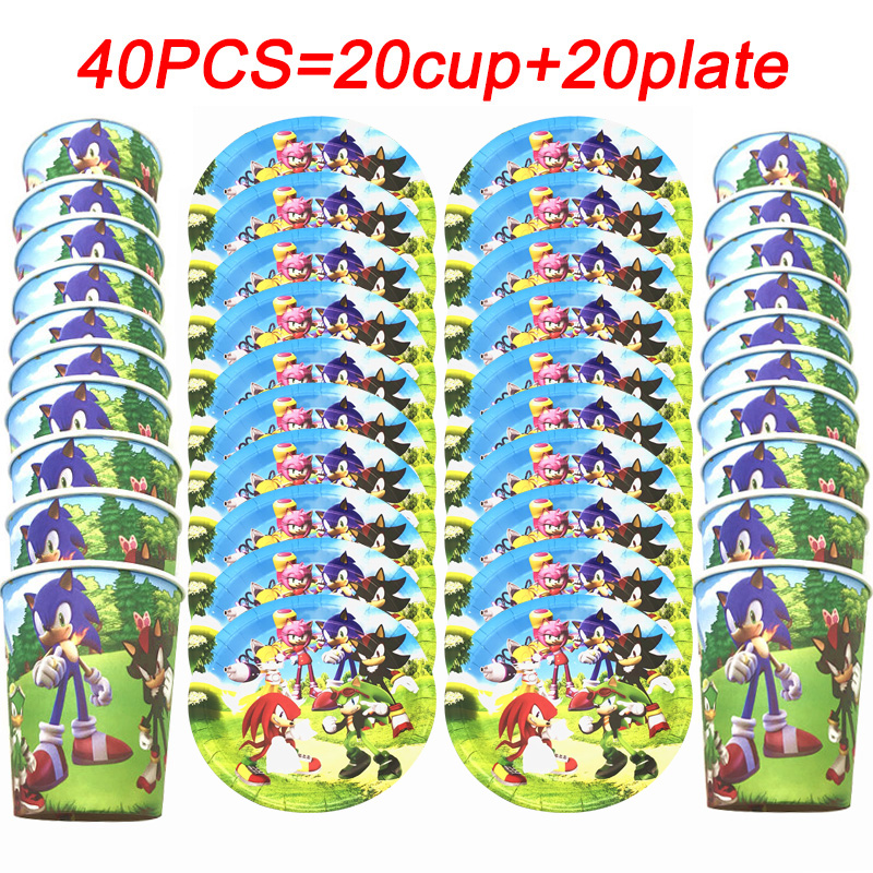 Sonic The Hedgehog Disposable Cup Gift Bags Candy Boxes Popcorn Boxes Plates Sonic The Hedgehog Party Supplies Set Decorations Disposable Party Tableware Aliexpress