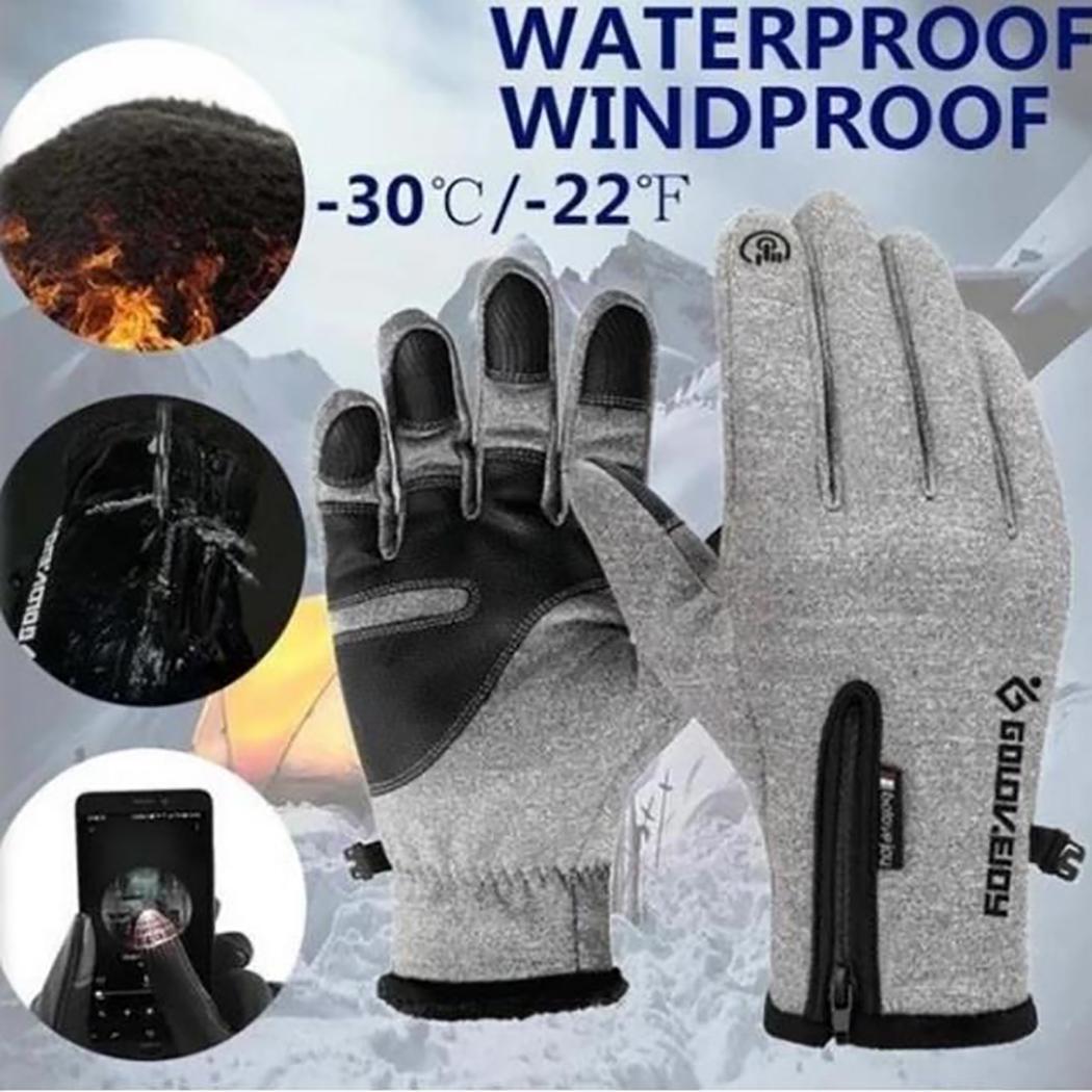 Touch Screen Ski Gloves Men Women Winter Skiing Fleece Waterproof Snowboard Gloves Snow Motorcycle Warm Mittens