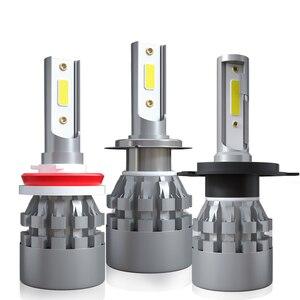 Image 3 - 2X 12V 6000K H4 LED H7 السيارات سيارة العلوي ضوء لمبة سيارة المصابيح الأمامية H1 H8 H11 9006 hb4 9005 9004 H27 880 H3 Led أضواء