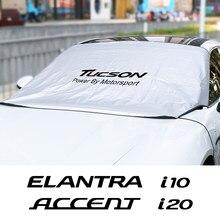 Para Hyundai ELANTRA acento GDi Génesis I10 I20 I40 IX20 IX35 SANTAFE SOLARIS SONATA Tucson sombrilla de parabrisas de coche cubierta