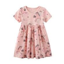 Sukienki – Robe licorne en coton pour filles, vêtements d'été pour enfants, 2021
