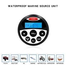 À prova dwaterproof água marinha estéreo bluetooth rádio da motocicleta áudio barco carro mp3 player sistema de som automático fm am receptor para spa utv atv
