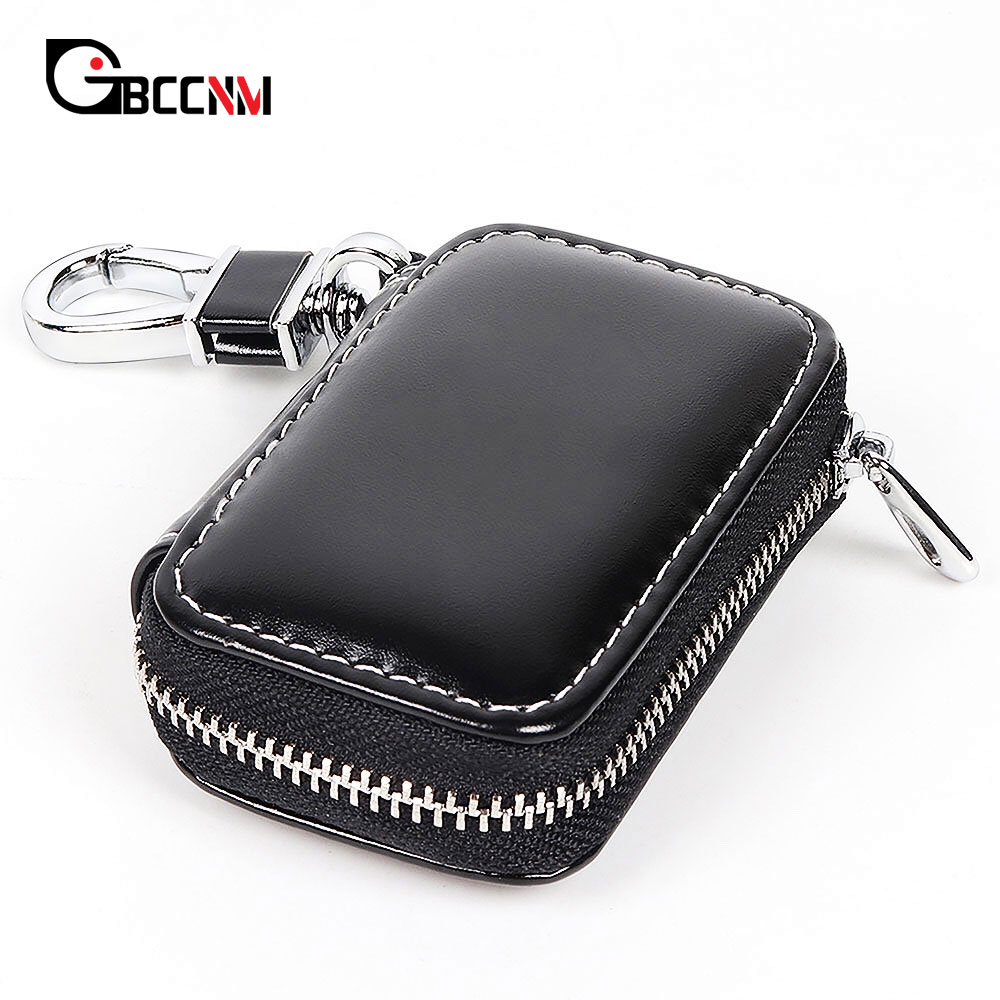 Leather Car Logo <font><b>Key</b></font> Case Remote <font><b>Key</b></font> Case Bag Holder For <font><b>Kia</b></font> rio 3 4 5 <font><b>sportage</b></font> ceed cerato sorento k3 k4 k5 Amanti Borrego <font><b>2011</b></font> image