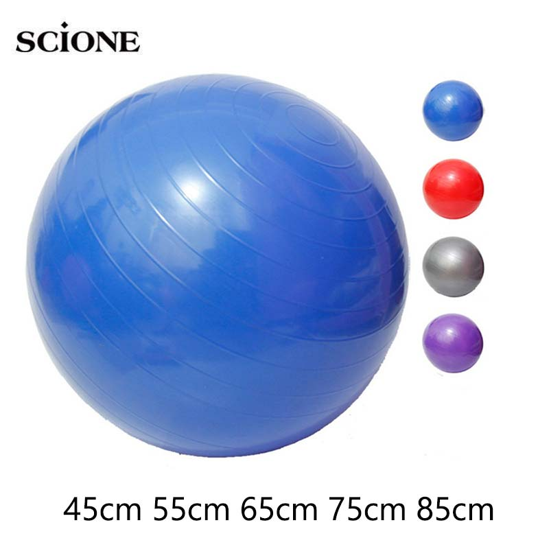 Yoga Balls Bola Pilates Fitness Gym Balance Fitball Exercise Pilates Workout Massage 25cm 45cm 55cm 65cm 75cm Yoga Ball XA5A