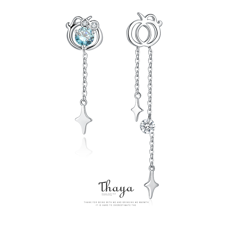 Fairy Tales Series Thaya Solid Silver Earrings 925 Sterling Silver Cubic Zircon серьги For Women Engagement Gift Fine Jewerlry