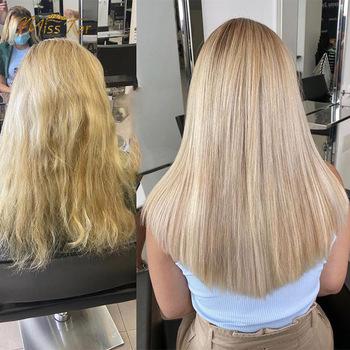 Przedłużanie włosów włosy ludzkie włosy blond naturalne dopinki włosów 100 ludzkie włosy typu Remy żyłka ludzkie włosy proste włosy tanie i dobre opinie MISSTAR Włosy remy CN (pochodzenie) highlights Ombre human hair 12 14 16 18 20 about 26 cm about 4 5 cm 4 clip 1 flip