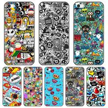 Anime Graffiti Sticker Bomb Phone Case Silicone For iPhone 6 S 6S 7 8 X XR XS Max Soft Back Cover For iPhone 6 S 6S 7 8 Plus