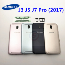 For Samsung Galaxy J3 J5 J7 Pro 2017 J330 J530F SM J730F/DS Housing Battery Cover Door Rear Chassis Back Case Housing Aluminum