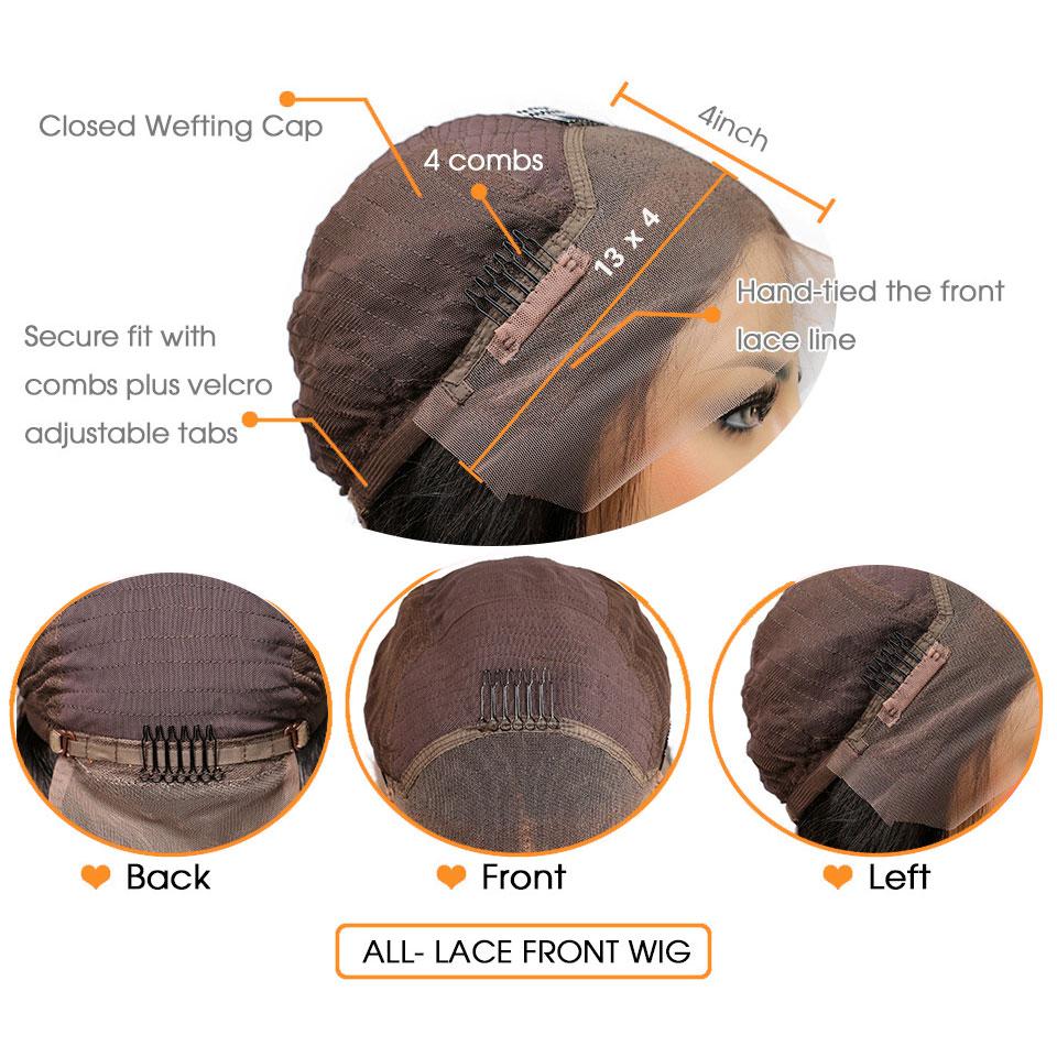 Кружевные передние бразильские человеческие волосы парик африканские кудрявые вьющиеся волосы remy Омбре коричневые кружевные передние парики с детскими волосами для черных женщин - 5