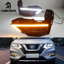Luces LED diurnas para coche Nissan x trail T32 Xtrail 2017 2018 2019, lámpara antiniebla DRL