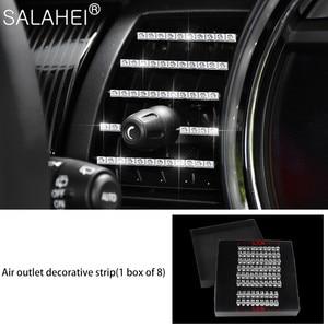 Image 4 - גביש יהלום רכב מולטימדיה ידית קישוט כיסוי Fit עבור מיני F55 F56 F60 קופר CLUBMAN COUNTRYMAN רכב אביזרי פנים