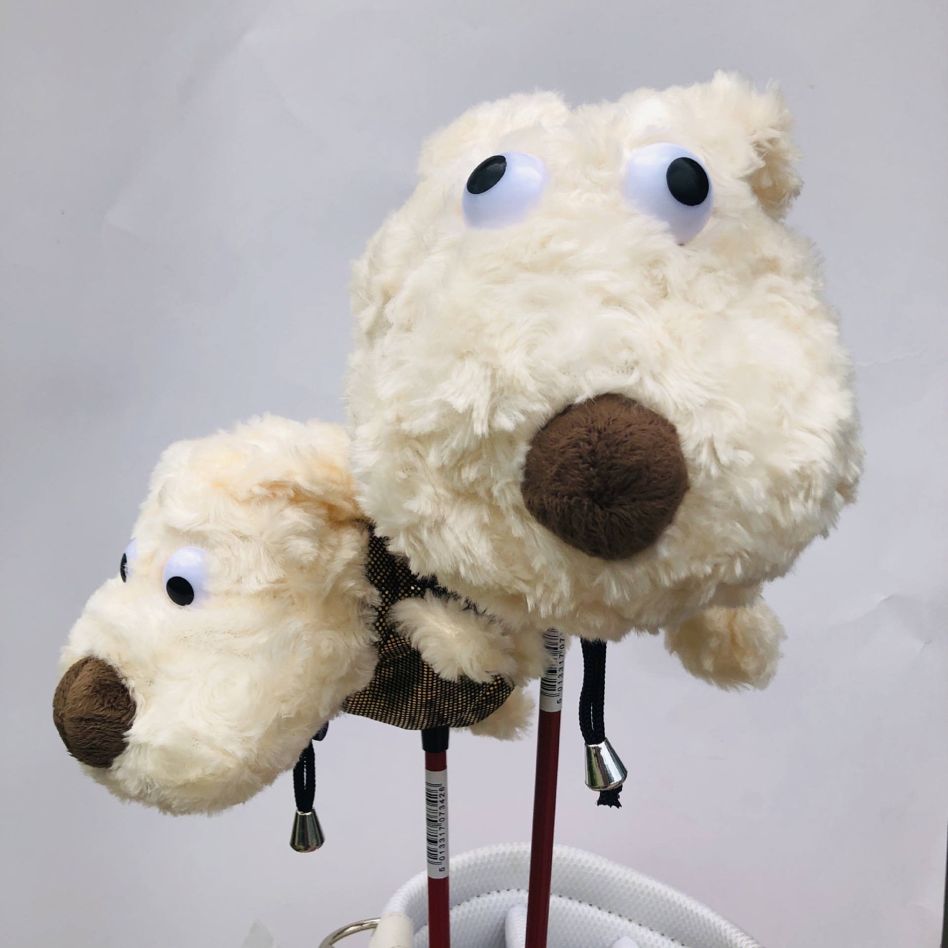 1 Pcs Golf Club Headcover For Driver Fairway Cute Puppy Covers Golf Wood Headcovers