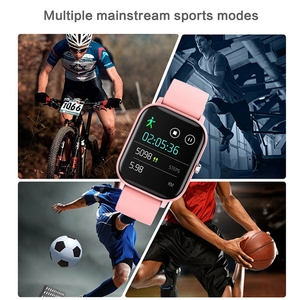 Image 4 - P8 akıllı İzle erkekler kadınlar 1.4 inç tam dokunmatik spor Tracker spor nabız IP67 su geçirmez Xiaomi Amazfit GTS