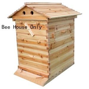 Image 2 - אוטומטי עץ כוורת בית עץ דבורים תיבת ציוד גידול דבורים כוורן כלי לכוורת דבורים אספקת 66*43*26cm באיכות גבוהה