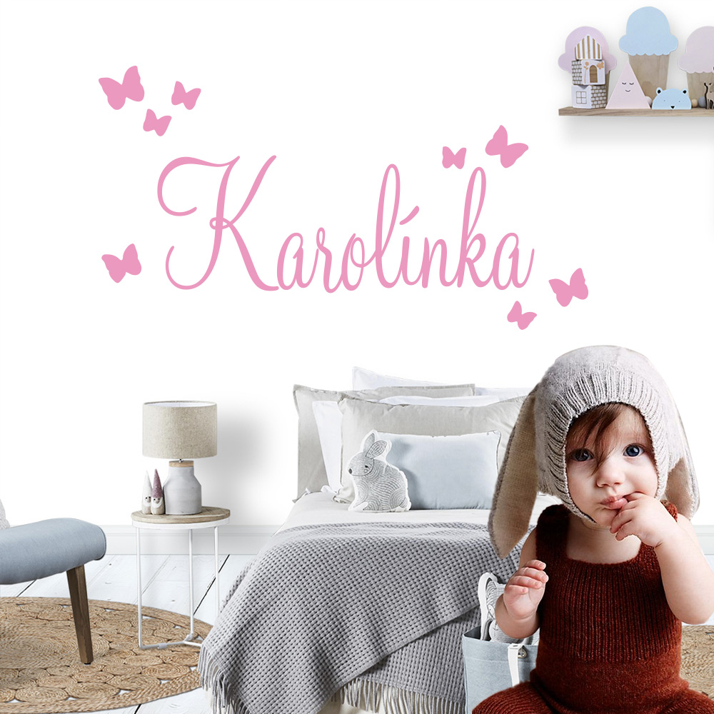 Large Size Personalized Custom Name Wall Sticker Art Decal Babys Wall Stickers For Kids Girls Boys Room Decoration Bedroom Mural 1