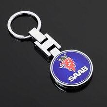 High Quality Alloy Car Logo Keychain Keychain Auto Badge Key Chain Key Ring Keyfob For SAAB SCANIA Aero X 9-3 9-5 9-7X Styling