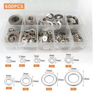 600 шт./компл. прочная Магнитная Шайба из нержавеющей стали 304, аксессуары для домашнего ремонта