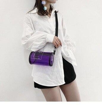 2020 New Shoulder Bag Round Clear Messenger Handbag Tote Purse Transparent PVC Crossbody
