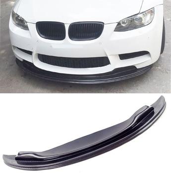 G-T Style Carbon fiber Front Lip Spoiler Fit For BMW E90 E92 E93 M3 for bmw m1 e82 m3 e90 e92 e93 2008 2013 add on style carbon fiber body side rear view mirror cover