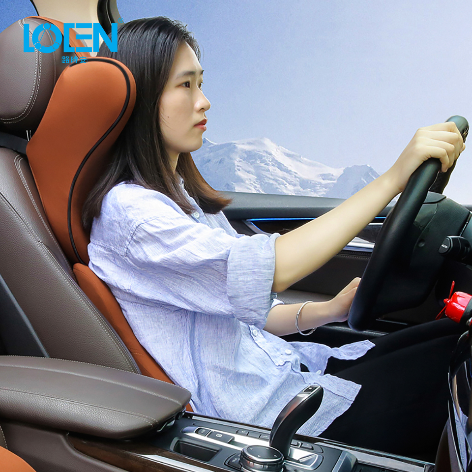 LOEN U Shaped Super Soft Car Neck Pillow Auto Seat Support Memory Foam Headrest Universal Support For Travel  Office Home Car
