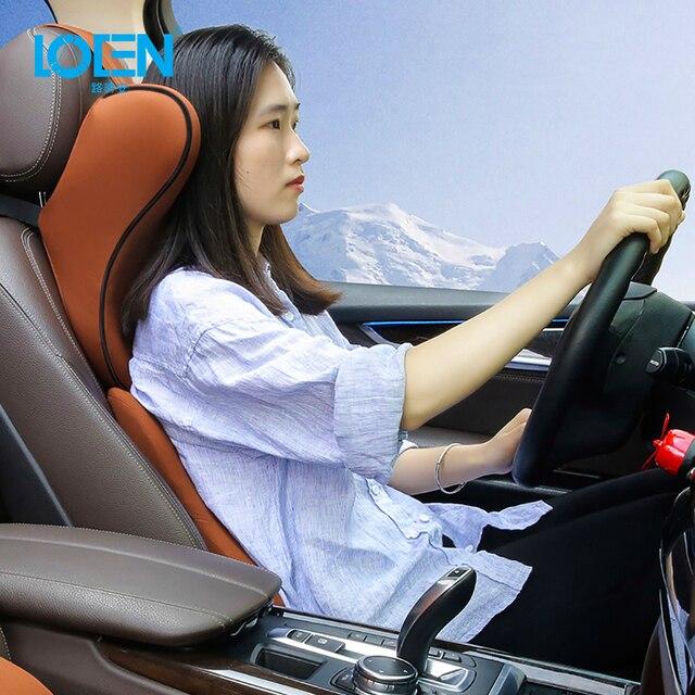 U образная супермягкая Автомобильная подушка для шеи LOEN, поддержка автомобильного сиденья, подголовник из пены с эффектом памяти, универсальная поддержка для путешествий, офиса, дома и автомобиля