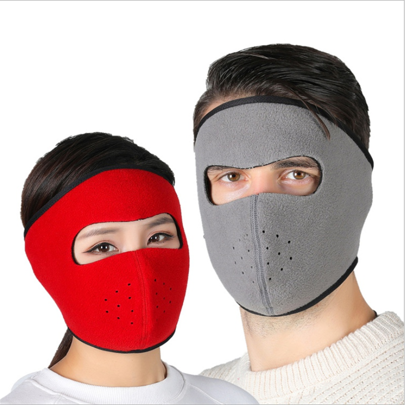 WZCX Winter Warm Windproof Face Mask Fashion Solid Color Face Masked Mask Outdoor Warm Bicycle Thermal Fleece