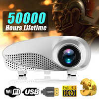 Nuevo Mini proyector Full HD portátil 1080P 3D HD LED proyector Multimedia Teatro en Casa USB VGA HDMI TV casa teatro sistema