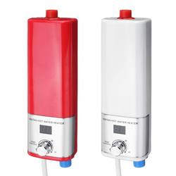 5500W Electric Water Heater Mini Instant Water Heater Tankless Indoor Shower Kitchen Bathroom Water Heater Temperature Control